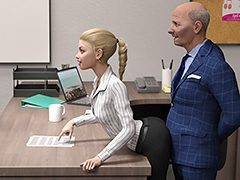 Hot daughter at work - Incest 3D by..