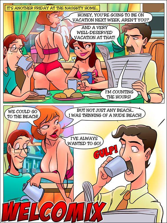 комикс развратная семейка
